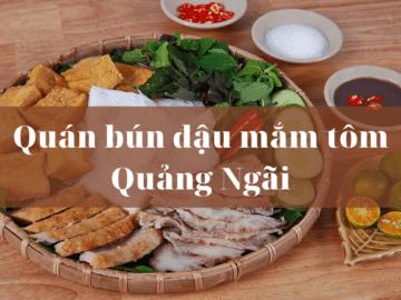 Quan bun dau mam tom Quang Ngai