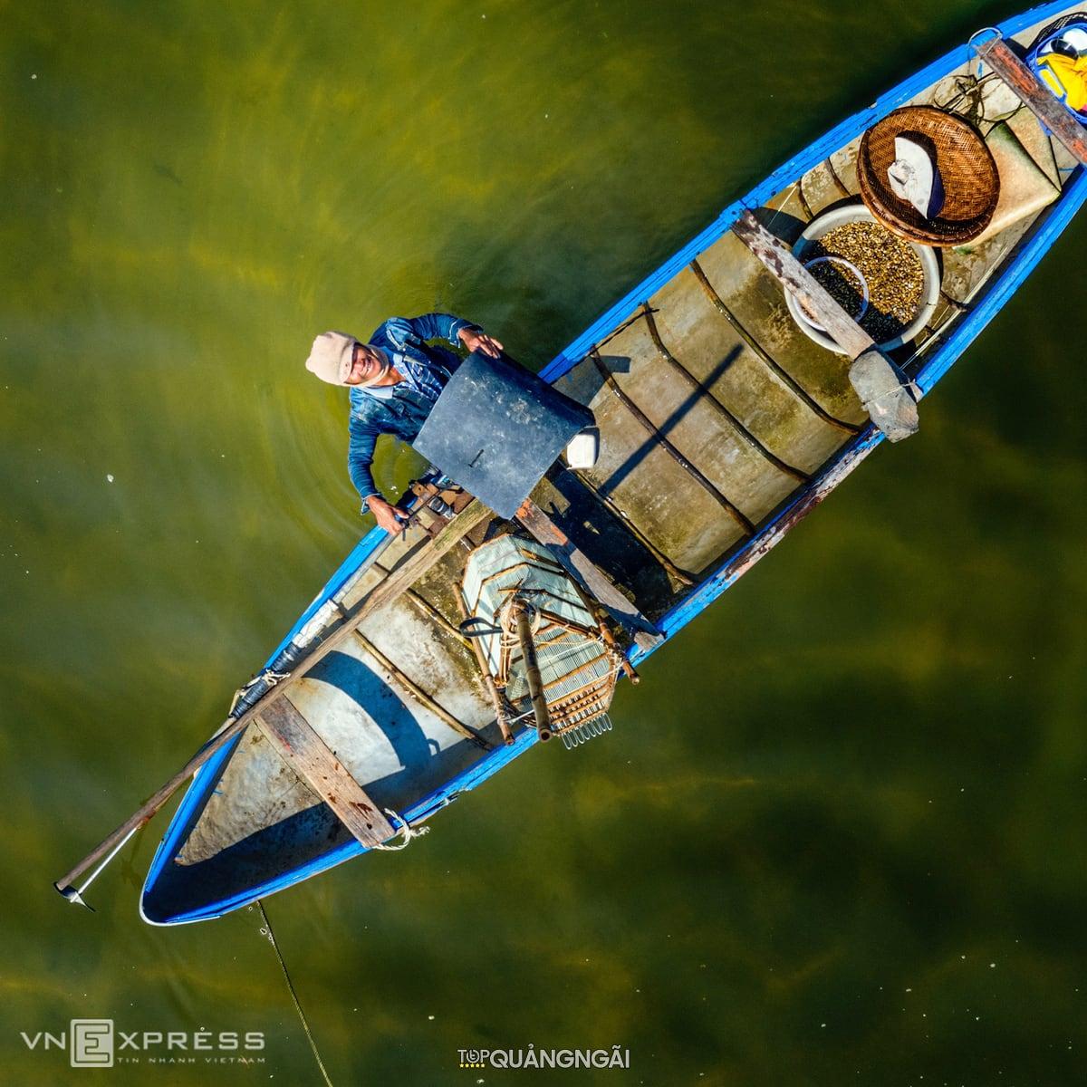 Nghề cào don Quảng Ngãi trên sông Trà Khúc